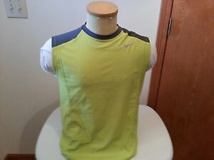 NIKE dri fit lime green & gray sleeveless shirt - boys XL