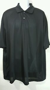 Nike Golf Fit Dry Polo Shirt size XXL Black short sleeve 2 button collared 2XL