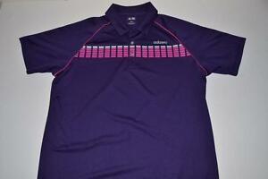 ADIDAS GOLF ADIZERO PURPLE PINK DRY FIT POLO SHIRT MENS SIZE LARGE L