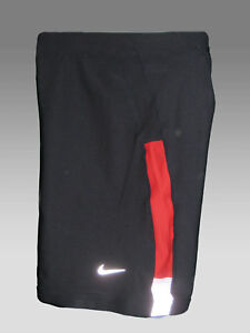 Nike Men's Dri-Fit Running Compression Shorts Navy Blue & Red M