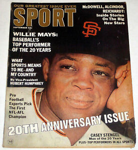 SPORT September 1966 WILLIE MAYS cover * Negro in Sports article JACKIE ROBINSON $35.00
