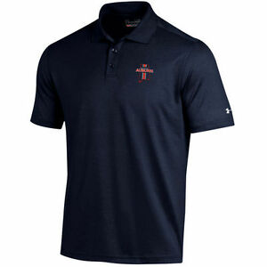 Auburn Tigers Under Armour Solid Performance Polo - Navy - NCAA