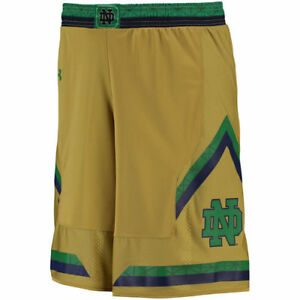 Notre Dame Fighting Irish Under Armour Replica Basketball Shorts - Gold - NCAA