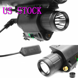 2in1 Tactical CREE Q5 LED Flashlight Red Laser Sight Combo for Shotgun AR