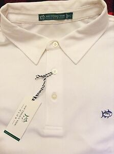 XXL Southern Tide fishinggolf shirt of polyester in bright white rugby 2xl