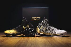 DS UNDER ARMOUR SIZE 13 STEPHEN CURRY BACK 2 BACK MVP PACK STEPH