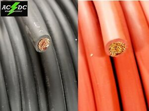 2 Gauge AWG Welding Lead amp; Car Battery Cable Copper Wire MADE IN USA SOLAR $38.99