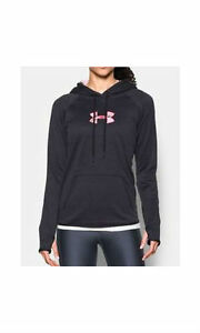 Under Armour Icon Caliber Black Hoodie Women's  1286058-002 XX Large