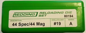 80194 REDDING 44 SPECIAL  44 MAGNUM 3-DIE SET - BRAND NEW - FREE SHIPPING