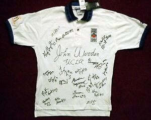 1997 McDonalds All American Team Signed John Wooden Autographed Staff Polo Shirt