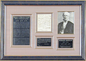 HORACE GREELEY - AUTOGRAPH LETTER SIGNED 08171867