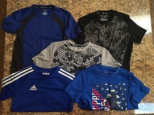 LOT OF Boys Tek Gear Adidas Dry Fit shirts Nike Under Armor  Small Size 8 NICE!