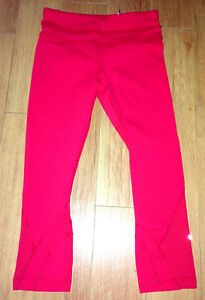 Brand NEW! Lululemon Run Inspire Crop Tights in LORE Red- Size 4XS