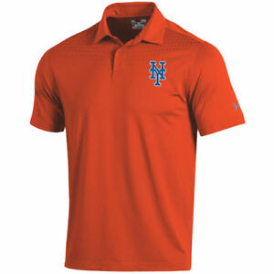 New York Mets Under Armour Coolswitch Ice Pick Performance Polo - Orange - MLB