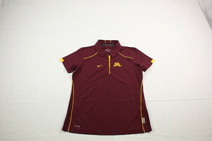 NEW Nike Minnesota Golden Gophers - Maroon Dri-Fit Polo Shirt (S) 4 Charity