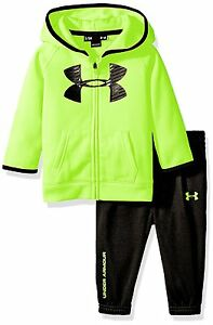 Under Armour Baby Active Big Logo Hoodie Set Fuel Green 3-6 Months