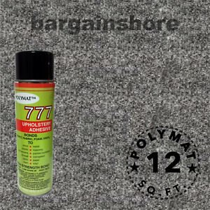 3ft x 4ft 1can 777 Glue CHARCOAL Polymat S25 TOOL BOX DRAWER LINER CARPET