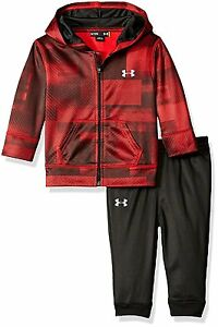 Under Armour Baby Active Hoodie and Pant Set Red Blast 6-9 Months