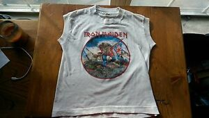 Iron Maiden Vintage Childs Muscle T shirt - MEGA rare. Size 10-12 Screen Stars