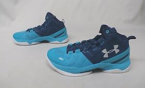 Under Armour Boy's Grade School UA Curry Two TurquoisePurple GG8 Size 5Y