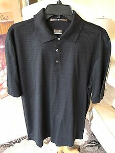 NWT Tiger Woods Nike fit dry black golf polo shirt size M
