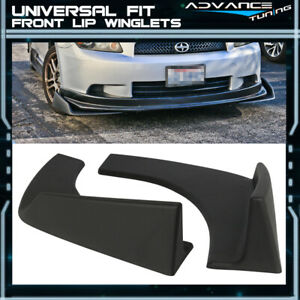 Universal Front Rear Bumper Lip Splitters Winglets Canards 30x4 Inches 2PC - PP