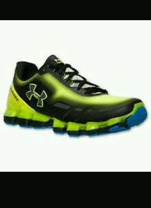 Under Armour Scorpio Running Shoe Sz 10 Black & green neon very rear color