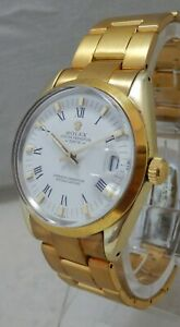 Rolex Oyster Perpetual Gold Capped Mens Watch Model 1024 Orig Box