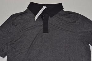 LULULEMON DRY FIT GOLF POLO SHIRT DARK CHARCOAL GRAY BLACK MENS SIZE SMALL NEW