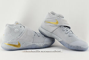 Nike Kyrie 2 GS - SIZE 5.5Y - NEW - 826673-050 Battle Grey Gold BG Irving Black