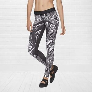 RECALLED RARE Nike SOMOA TATTOO BlackWhite Dri-Fit Workout Pant Leggings Medium