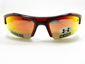 Under Armour Sunglasses NITRO Crystal Red Orange YOUTH FIT New Authentic
