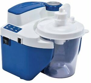 DeVilbiss Vacu Aide QSU Portable Quiet Suction Aspirator Machine w Battery