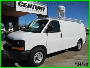 2015 Chevrolet Express COMPRESSED NATURAL GAS CARGO VAN WE FINANCE CNG 6.0 V8 EXPRES G2500 CARGO SERVICE UTILITY WORK VAN BULKHEAD BIN PACKAGE