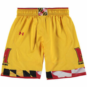 Maryland Terrapins Under Armour Youth Replica Basketball Shorts - Yellow - NCAA