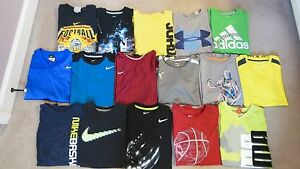 UNDER ARMOUR NIKE AIR JORDAN PUMA + Boys Shirt Lot Size Youth L XL Large Extra