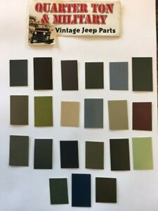 Military Paint Chip set for Gillespie Coatings