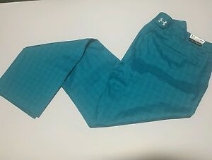 NEW UNDER ARMOUR UA GOLF HEAT GEAR MEN'S PLAID GOLF PANTS 34 WAIST X 30323436