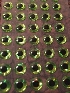 3D Chartreuse Lure Eyes 3mm -8mm FREE SHIPPING Lure Making Jig Making Supplies