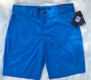 HURLEY Dry Out Chino Casual Nike Dri - Fit Blue Regular Fit 36