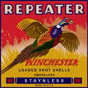 Reproduction Vintage Winchester Repeater Shotgun Shell Box Label Canvas Print