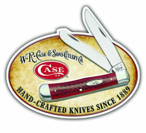 Case XX 50180 Knife Accessories 30 x 25 Tin Sign w/ Trapper and Logo