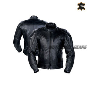 Black men motorbike leather jacket motogp racing black jacket suerbike gears