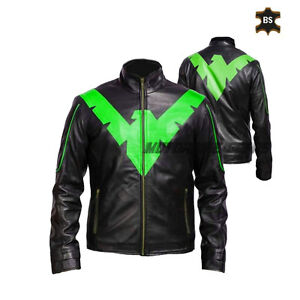 Black motorbike leather jacket eagle motorcycle gears ce armours racing jacket