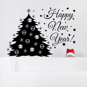 Wall Decal Christmas Tree Decal Holiday Decoration New Year Sticker Art MA301