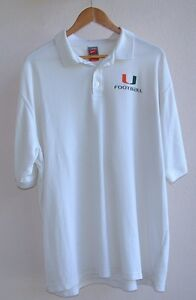 MIAMI HURRICANES UM TEAM ISSUED NIKE FIT DRY FOOTBALL COACHES SHIRT 2XL XXL