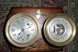 Vintage Chelsea Ships Bell & Barometer Abercrombie & Fitch