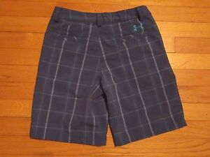 Under Armour Plaid GolfCasual Shorts Size YLG Youth Large