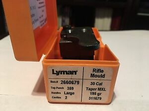 Used Lyman 2 cavity Bullet Mould 30 Caliber 195 Taper MXL - #311679
