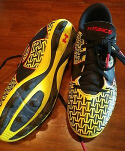 Under Armour Shoes Cleats Youth Size 3Y Girl Boy Unisex Yellow And Black